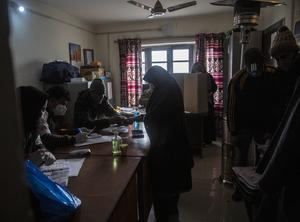 Nearly six million people across Kashmir's 20 districts are eligible to vote (Mukhtar Khan/AP)