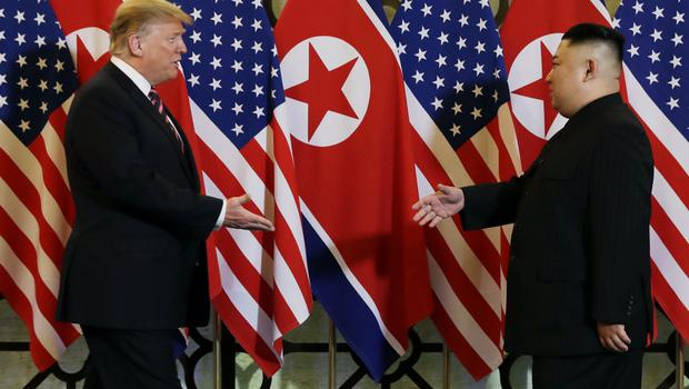 President Donald Trump met North Korean leader Kim Jong Un in Hanoi earlier this year (Evan Vucci/AP)