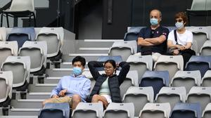 Spectators watch third round matches at the Australian Open tennis championship in Melbourne (Hamish Blair/AP)