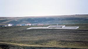 The cemetery for the known Argentinian war dead at Darwin in the East Falklands