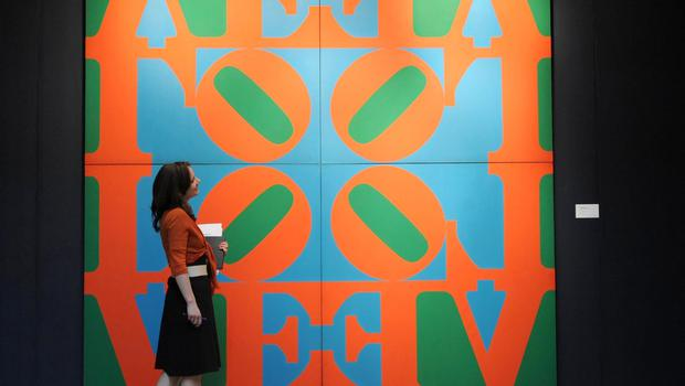 Robert Indiana piece to be auctioned