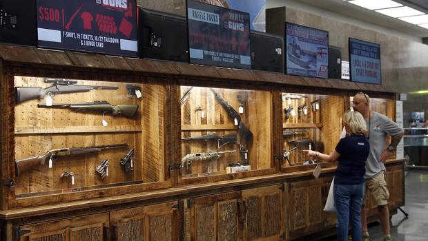 NRA convention raffle items at the convention centre in Dallas (Sue Ogrocki/AP)