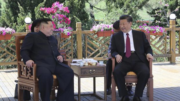 Kim Jong Un and Xi Jinping meet in Dalian (Xinhua via AP)