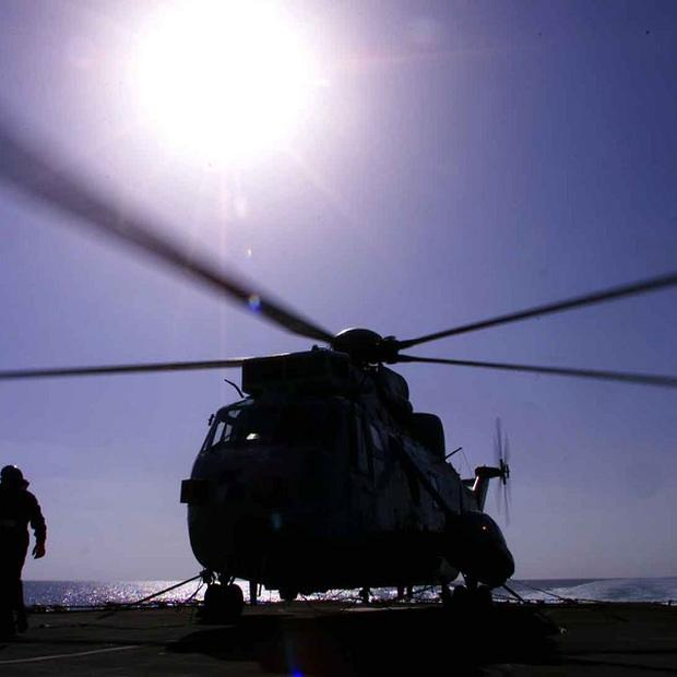 A US Navy helicopter crashed into the ocean off the Virginia coast, killing two people and leaving two in hospital