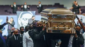 A funeral has been held for George Floyd (Godofredo A Vasquez/Houston Chronicle via AP)