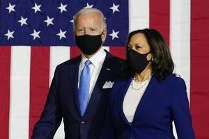 Democratic presidential candidate former Vice President Joe Biden and his running mate Senator Kamala Harris (Carolyn Kaster/AP)