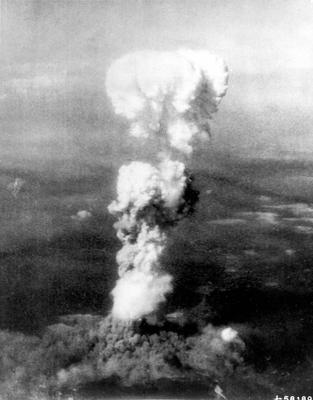 The mushroom cloud over Hiroshima following the dropping of the atomic bomb (US Air Force/PA)
