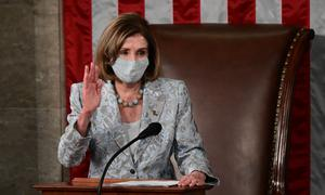 House speaker Nancy Pelosi (Erin Scott/Pool via AP)