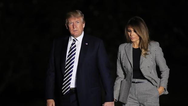 President Donald Trump and first lady Melania Trump at the White House (Manuel Balce Ceneta/AP)