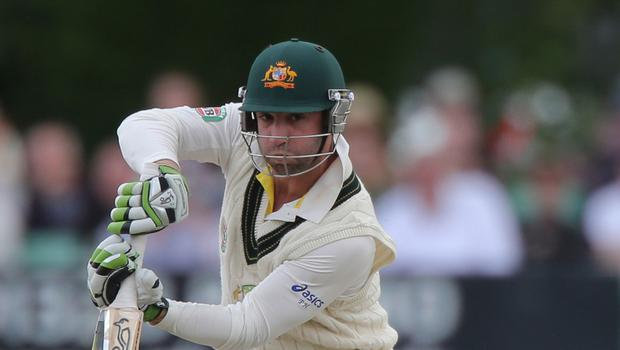 Phil Hughes collapsed after being hit while batting for South Australia against New South Wales