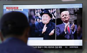 US president Donald Trump and North Korean leader Kim Jong Un are due to meet next month (Lee Jin-man/AP)