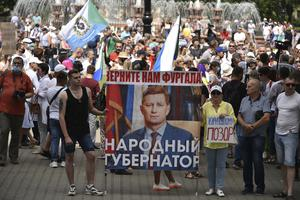 The continuing large-scale protests are seen as a challenge to the Kremlin (Igor Volkov/AP)