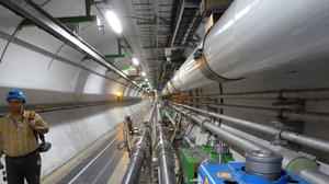 The beam tunnel at the Large Hadron Collider at CERN