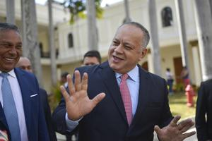 Diosdado Cabello, president of the National Constituent Assembly, has also tested positive (Matias Delacroix/AP)