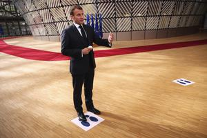 French President Emmanuel Macron said leaders needed to compromise while respecting the underlying principles of the EU (Francisco Seco, Pool/AP)