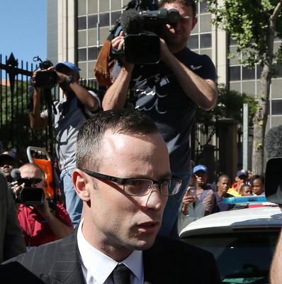Oscar Pistorius leaving the high court in Pretoria, South Africa, last week (AP)