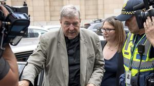 Cardinal George Pell pictured leaving the County Court in Melbourne, Australia. (Andy Brownbill/AP)