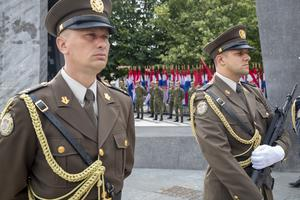Croatia's honour guards (Darko Bandic/AP)
