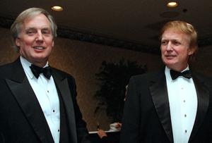 Robert Trump, left, pictured in 1999, had tried to halt the publication of Mary L Trump's book, claiming it would violate a pact among family members (Diane Bonadreff/AP)