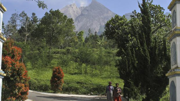 Mount Merapi erupts near the village of Pemalang, Central Java (Agung Nugroho/AP)