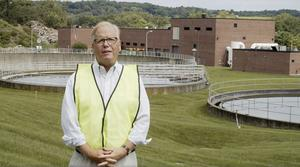 Danbury mayor Mark Boughton in front of the Danbury Wastewater Treatment Plant (Office of Mayor Mark Boughton via AP)