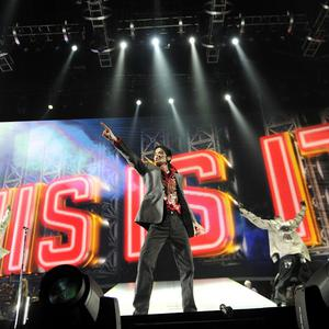 Michael Jackson rehearses at the Staples Centre in Los Angeles (AP/ Kevin Mazur, AEG/Getty Images)
