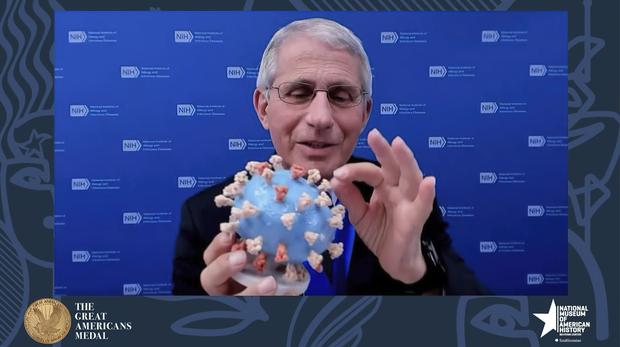 Dr Anthony Fauci (Smithsonian's National Museum of American History/AP)