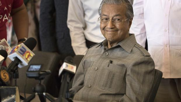 Mr Mahathir said he expects to be sworn in as prime minister quickly (AP)
