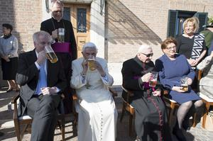 Georg Ratzinger at Emeritus Pope Benedict's 90th birthday party at the Vatican (AP)