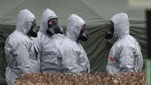 Military personnel in Salisbury amid the probe into the nerve agent attack (PA)