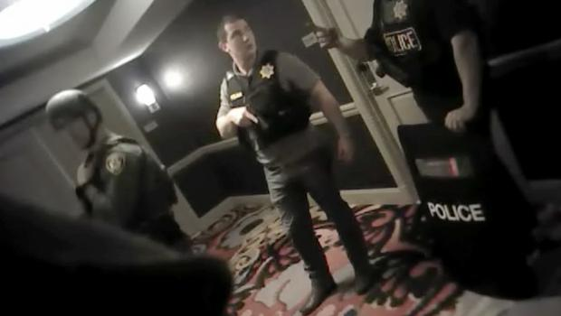 Police footage from the Mandalay Bay Hotel in Las Vegas