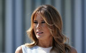 US first lady Melania Trump will address the convention from the White House later (AP)