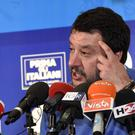 The League leader Matteo Salvini (Stefano Cavicchi/LaPresse via AP)