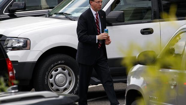 Deputy Attorney General Rod Rosenstein leaves a meeting at the White House (Evan Vucci/AP)