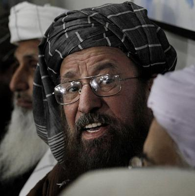 Pakistani cleric Maulana Samiul Haq is leading the Taliban's negotiating committee  (AP)