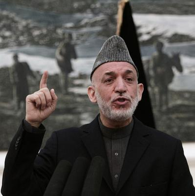 Afghan President Hamid Karzai addresses a news conference in Kabul (AP)