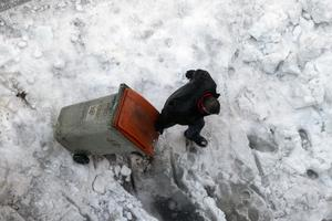 Temperatures dropped as low as minus 25.4C in some areas (Paul White/AP)