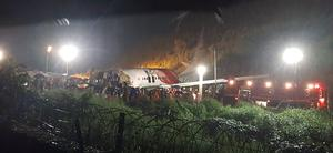 The Air India Express flight that skidded off a runway while landing at the airport in Kozhikode (AP)