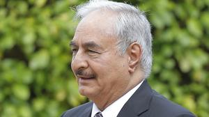Libya's eastern-based parliament is allied with Khalifa Hifter (Michel Euler/AP)