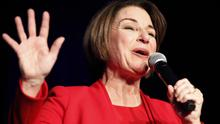 Amy Klobuchar finished a strong third in New Hampshire (John Locher/PA)