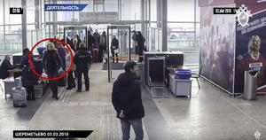 Yulia Skripal, circled, on her way to catch a flight to London (AP)