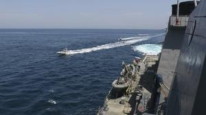 Tensions continue in the Persian Gulf between Iranian and American forces (US Navy/AP)