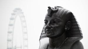 A sphinx on the Victoria Embankment, London (PA)