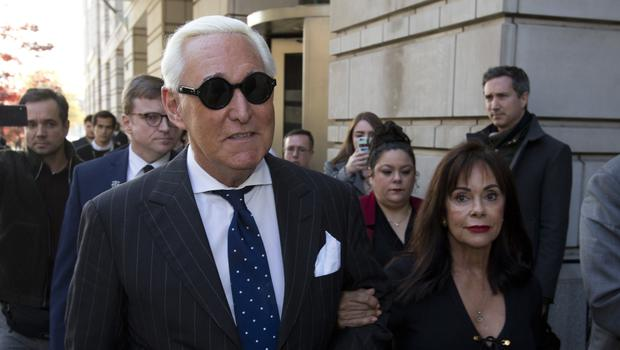 Roger Stone, left, with his wife Nydia (AP Photo/Jose Luis Magana, File)
