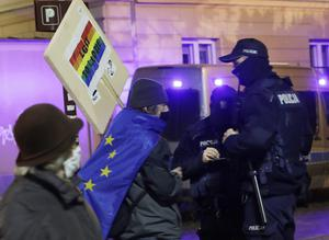 Some Poles are afraid that a drawn-out conflict with the EU could lead to their exit (AP/Czarek Sokolowski)