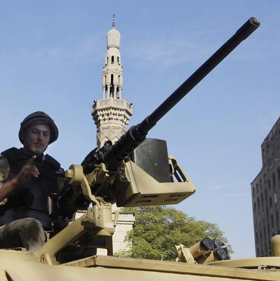 Egyptian soldiers have been waging an offensive against militants linked to the Muslim Brotherhood. (AP Photo/Amr Nabil, File)