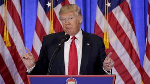 Donald Trump's spokesman shrugged off the protest by Democrats and indicated they would give away the seats (AP/Seth Wenig)