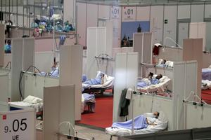 A temporary field hospital in Madrid (Manu Fernandez/AP)