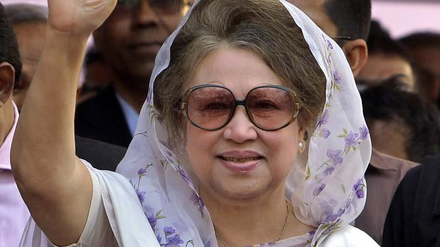 An arrest warrant has been issued for Bangladesh's former prime minister and opposition leader Khaleda Zia (AP)