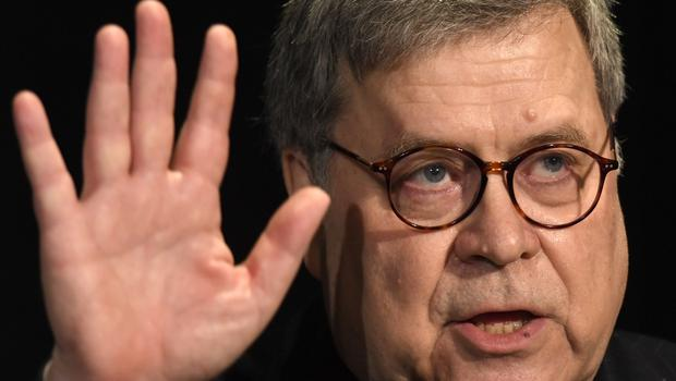 Attorney General William Barr, seen here at a speaking engagement earlier this month, who has criticised President Donald Trump for his interventions on legal matters (Susan Walsh/AP)